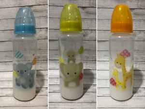 Reborn Baby Doll Fake Milk Formula Koala, Elephant or Giraffe 9oz Bottle