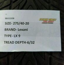 1 Used Lexani LX 9 275/40-20 275 40 20 275/40/20 2754020