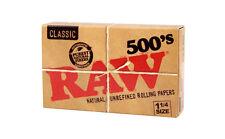 1x RAW 500 Classic ( 500 papeles ) Papel de fumar - cigarette paper - Natural