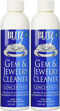 Gem Jewelry Cleaner Liquid Concentrate (8 Oz ,2-Pk) Ultrasonic Cleaning Solution