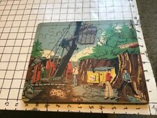 Rare EDCO Joseph K. Straus wooden educational puzzle -- CONSTRUCTION DIGGING