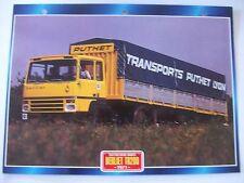 CARTE FICHE CAMION TRACTEUR CABINE AVANCEE BERLIET TR 280 1971