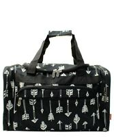 "Canvas 20"" carry on airplane/duffle/gym/overnight bag NWT FREE SHIP! Black Arrow"