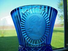 """Avon Fostoria 8"""" Cobalt Blue Goblet George Washington 1976"""