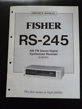 ORIGINALI service manual Fisher AM/FM STEREO DIGITAL synthesziserreceiver rs-245