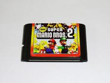 Games Cartridge - Super Mario Bros 2 16 Bit MD Sega Mega Drive Genesis