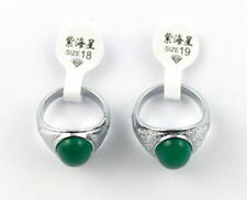 8PCS Fashion Green Simulate Jade Rings #20977