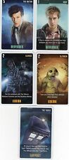 Doctor Who the Card Game 2009 c7e - 5 Art Cards: the Tardis, Clerics, Slitheen