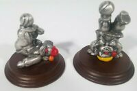 Vintage George Good Pewter Clown Figures Figurines Lot of 2 Balancing Ball