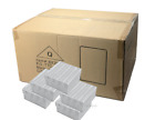 "100pc Cotton Filled Gift Boxes White Jewelry Gift Boxes  2""H Bracelet Box BULK"