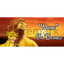 Roi lion disney personnalisé bébé à bord voiture signe (5)