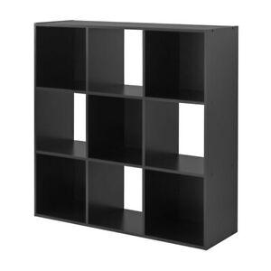 Mainstays 9 Cube Organizer Black