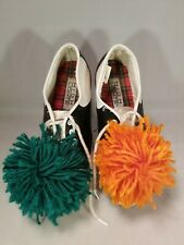 Saddle Shoes Womens Vintage Rockabilly Swing Size 6 Cheerleader Pom Poms