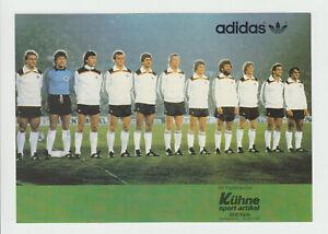 Mannschaftskarte*DFB 1982*MK Teamkarte*Mannschaftsbild*EM*WM*DIN A5 !!!Super RAR