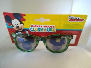 NWT Boys Kids DISNEY JR Sunglasses Mickey Mouse clubhouse green 01