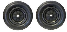 """PACK OF 2 BLACK 14"""" WHEELBARROW WHEELS 3.50-4.00-8 REPLACEMENT INFLATABLE TYRE"""