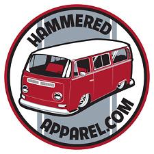 VW Volkswagen Bay Window Decal Sticker Transporter Kombi Bus Beetle Hammered