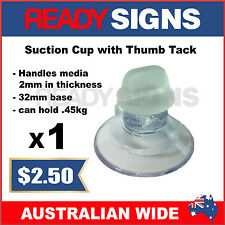 Ready Signs - Suction Cup with Thumb Tack 32mm - can hold up to .45kgs
