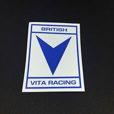British Vita Racing Sticker X2 (75mm X 110mm) (Classic Mini Speedwell Downton)