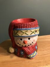 Neat Collectible Yankee Candle Snowman Candle Wax Melter