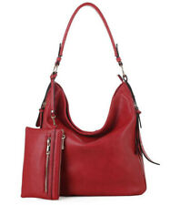 Epic Chic MKII Elina Hobo Bag with Wristlet Red Blue