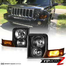 For 06 10 Jeep Commander Suv Black Amber Front Left Right Headlights Embly