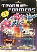 Transformers G1 Decepticons cassette Squawktalk Beastbox brand new Gift