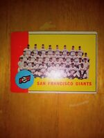 1963 Topps Baseball San Francisco Giants Team Card #417 VG