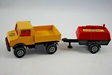 Matchbox SuperKings K-30 MERCEDES-BENZ UNIMOG Truck w/ COMPRESSOR TRAILER VGC