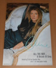 Celine Dion All the Way 2-Sided Poster Original 1999 Promo 36x24