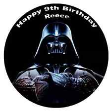 """Star Wars Darth Vader Cake Topper Personalised 7.5"""" Edible Wafer Paper"""
