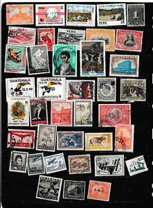 #4050=South/Central America used selection of different stamps