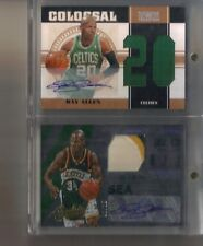 2) 10/11 15/16 National Treasures Absolute Ray Allen 3 Clr Patch Auto #20/20 Lot