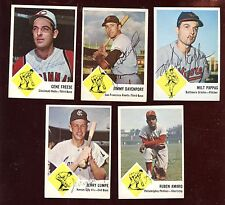 1963 Fleer Baseball Card Lot Autographed 5 Different Hologram