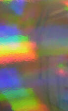 10 Sheets A4 Silver Rainbow Holographic Card 270gsm NEW