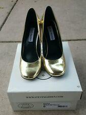 Steve Madden Myra Gold Heels, Size 6