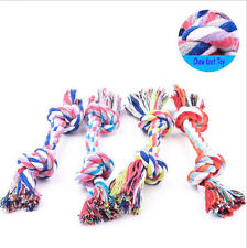 Chew Toy With Knot Funny Tough Strong Puppy Dog Pet Tug War Play Cotton Rope