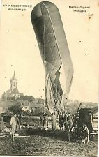 CARTE POSTALE AVIATION / AEROSTATION MILITAIRE BALLON SIGNAL FRANCAIS