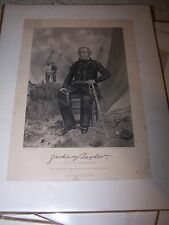 Eminent Americans Engraving Military ZACHARY TAYLOR- Alonzo Chappel 1862