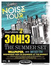 3OH!3 30H!3 Gig 2013 POSTER Seattle Washington Concert