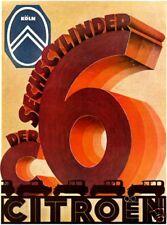 Farb-Plakat: CITROEN 1929, 6-Zylinder Oldtimer Reprint