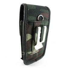 Camouflage Case Pouch Clip for TMobile LG Doubleplay Flip 2 C729, Optimus 7 E900