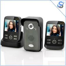 "SafeGuard Duo Videocitofono Wireless con 2 Monitor 3.5"" Trasmissione 300 Metri"