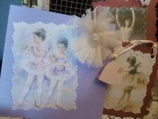 helllila romantische ballett ballerina karte mit 2 anhänger klappkarte brocante