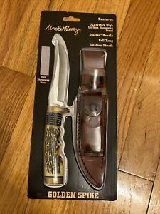 SCHRADE UNCLE HENRY GOLDEN SPIKE FIXED BLADE