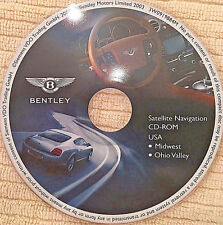 2004 05 06 BENTLEY CONTINENTAL GT SPUR NAVIGATION NAV DISC CD MIDWEST TN OH MI