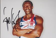 LINFORD CHRISTIE Olympia 13x18 signiert IN PERSON Autogramm signed RAR