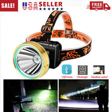 Ultra Bright Waterproof Head Torch/Headlight LED USB Rechargeable Headlamp Work