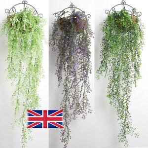Artificial Fake Hanging Basket Flower Vine Plant Wall Garden Decor In/Outdoor K