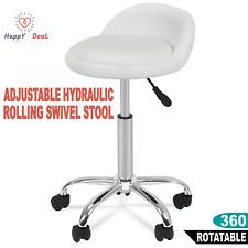 Hydraulic Adjustable Salon Stool Swivel Rolling Saddle Chair SPA Massage Studio